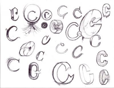 Carolina Skateboarding Logo Concept, Hand-Letters